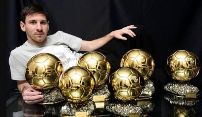 6 Золотых мячей Лионеля Месси